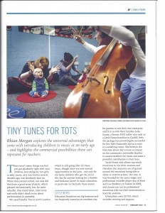Music Teacher Magazine Early Years Franchise Article
